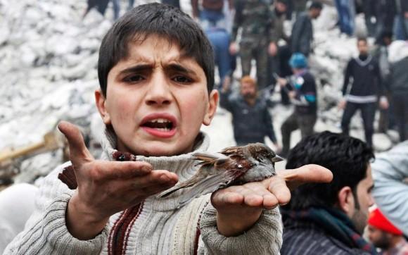 Mohammad, 9, wurde mit seiner Familie angeschossen